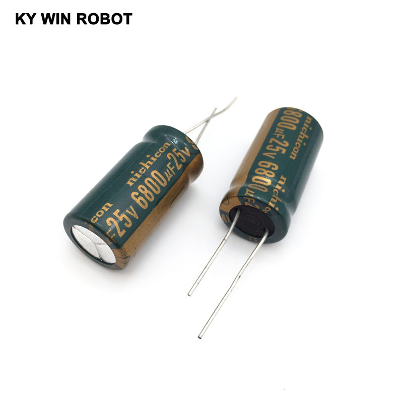 2PCS Electrolytic Capacitor 25V 6800UF 16 * 30 Aluminum Electrolytic Capacitors