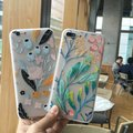 Para iphone6s coque case transparente silicone tpu macio capa iphone 6 s tampa do telefone para fundas iphone7 7 plus phone case 3d alívio