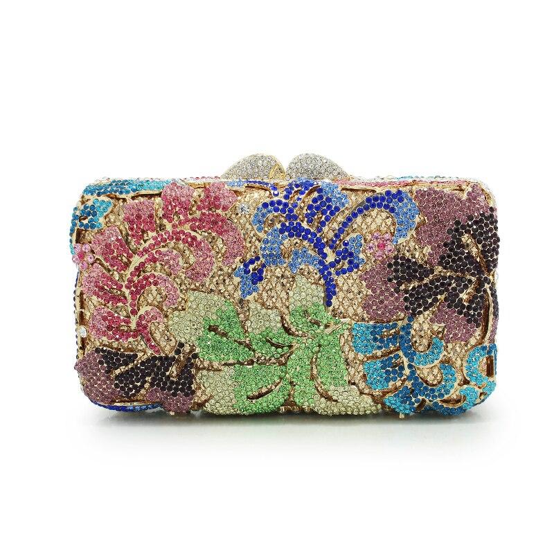 Handmade Holiday Stylish Clutch Party Bag Prom Crystal Fashion Evening Bag Women Clutch Bag(88213-R)