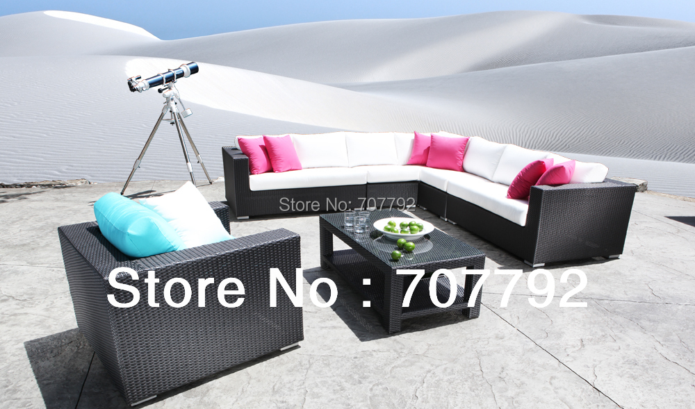 hot sale modern outdoor patio furniture chorus square sectional wicker patio sofa setchina