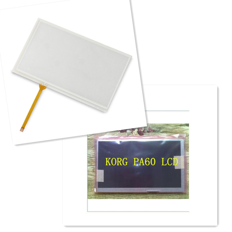 New for KORG PA600 PA-600 Touch Screen Panel + LCD Display Module Free Tracking Number башпласт