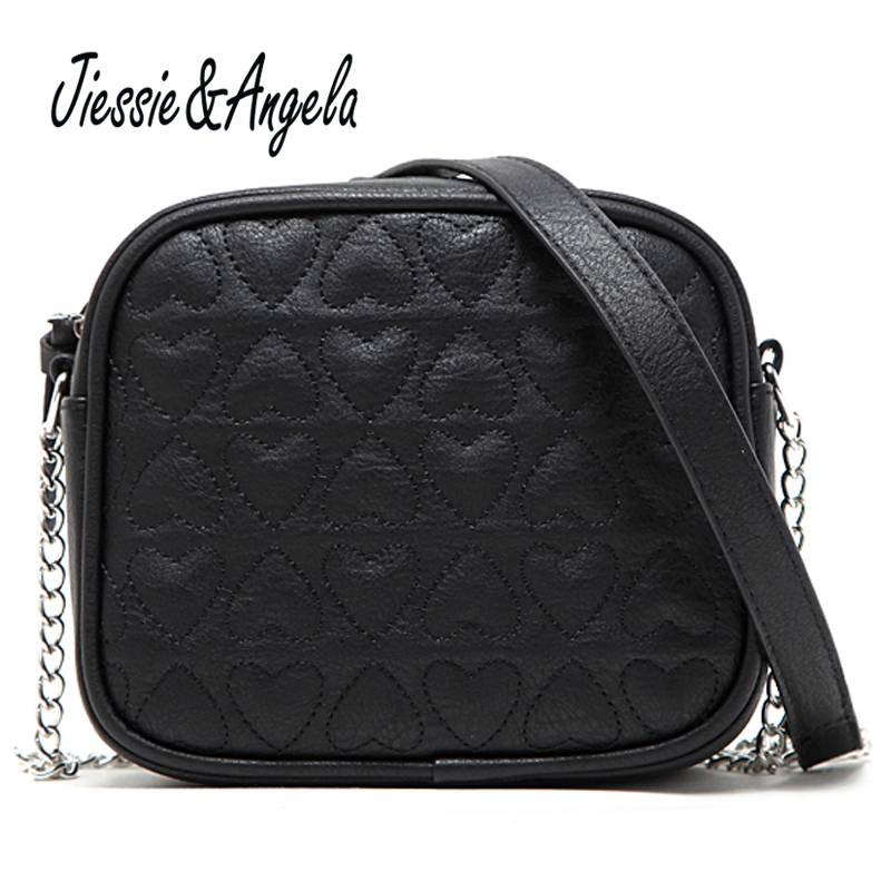 Jiessie & Angela Casual Small Flap Shoulder Crossbody Bags Designer Brand PU Leather Women Messenger Bags Ladies Black Small Bag lykanefu casual messenger bags for women crossbody brand small shoulder bag ladies pu leather handbags flap with long chain
