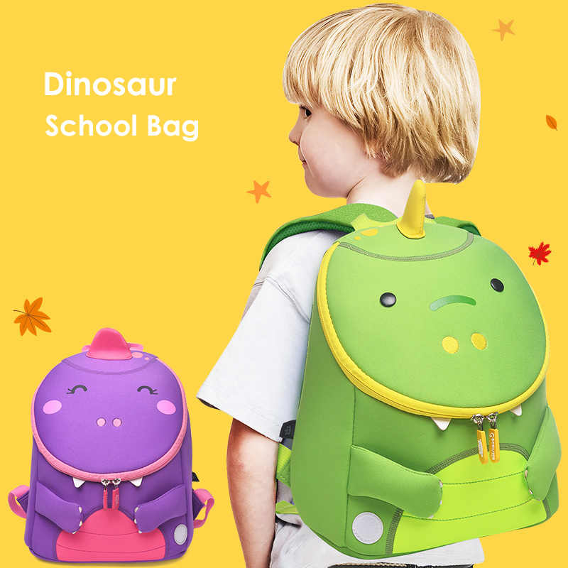 ... Cute Dinosaur School Backpacks for Girls Boys 3D Animals Designer  Waterproof Children Schoolbag Student Kids Bag ... a8974d70efdaf
