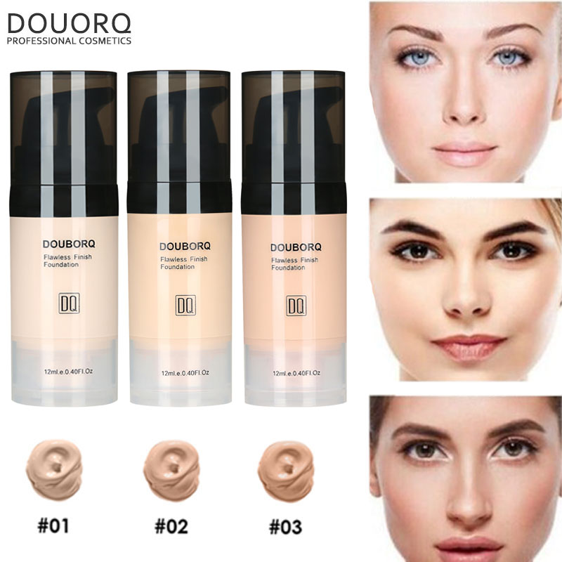 3 style Face Foundation Mineral Whitening Base High Coverage Full Makeup Facial Matte Make Up Liquid Foundation Cream image