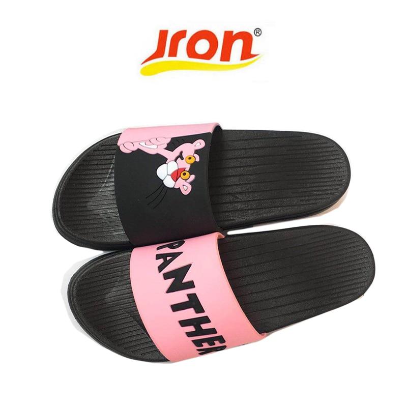 7c7387b2729e48 Summer Women Slipper Slides Cute Pink Panther Cartoon Beach Slippers  Platform Sandals Women Shoes Flip Flops