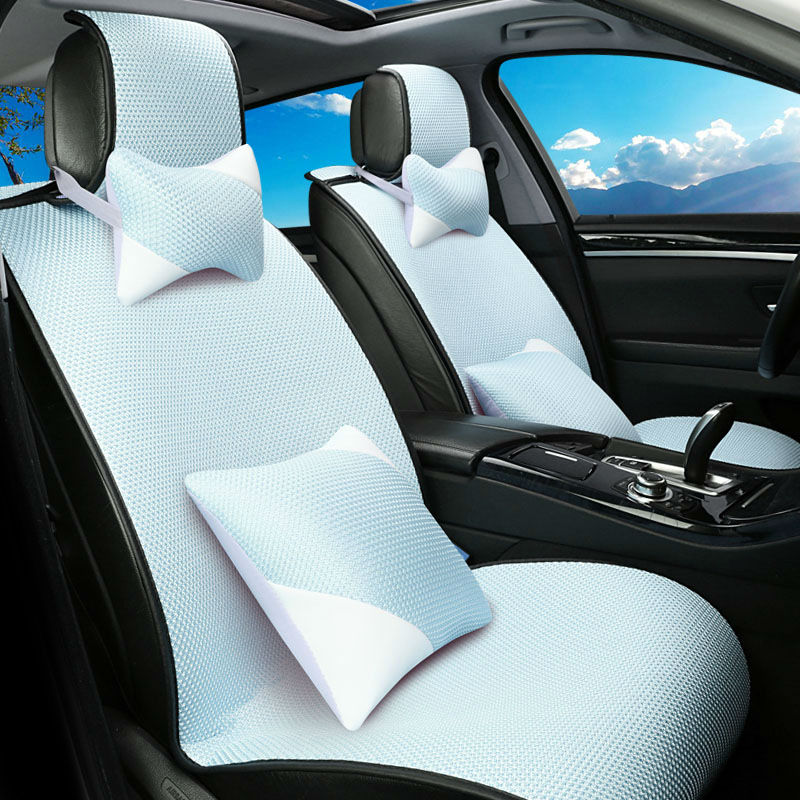 automotive car seat covers ice silk cushion summer cool special mats pad for Cadillac CTS CT6 SRX DeVille Escalade SLS ATS-L/XTS