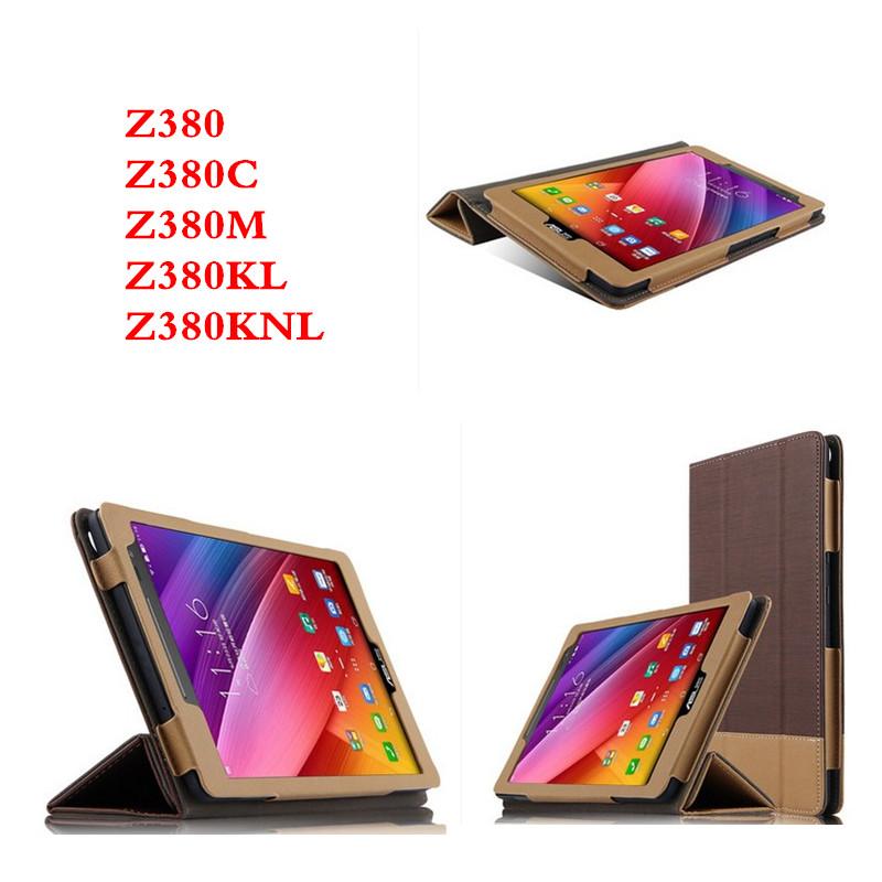 SD Fashion Ultra-thin Stand Hit color PU Leather Cover Case For ASUS Zenpad 8 8.0 inch Z380 Z380KL Z380C Z380M Z380KNL Tablet