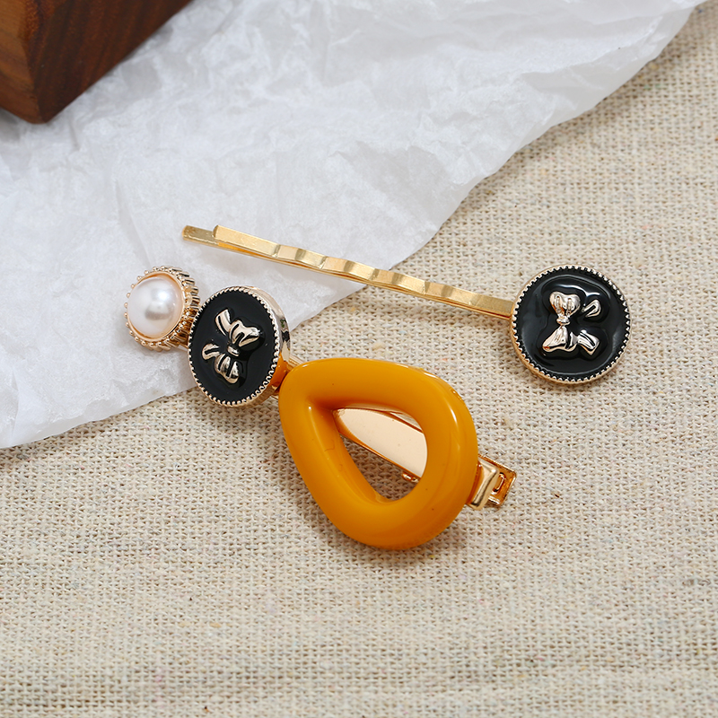 5Color Resin Imitation Pearl Hair Clips Women Hairpins Barrette Female Pins Hairgrip 2019 Newest Hair Clip For Girls Accessories in Women 39 s Hair Accessories from Apparel Accessories
