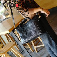 AETOO New retro Elephant leather cowhide simple commuter locomotive hand bag leather shoulder oblique cross female bag