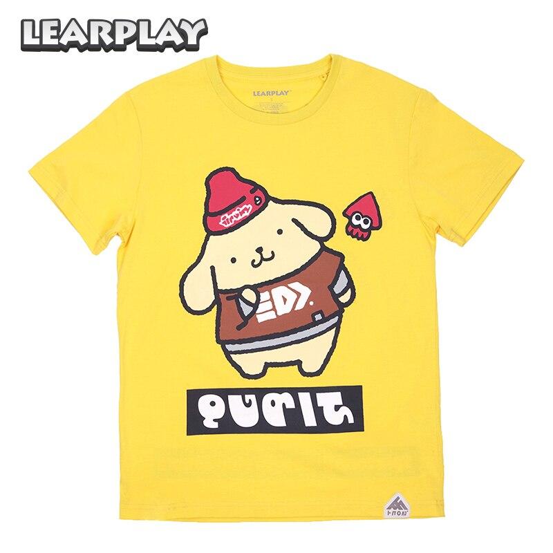 Splatfest Splatoon 2 Sanrio Carnival Cotton T-shirt Kitties Melod Cinnamoroll Pompom Purin Tee Shirt Party Kids Adults Tops Wear
