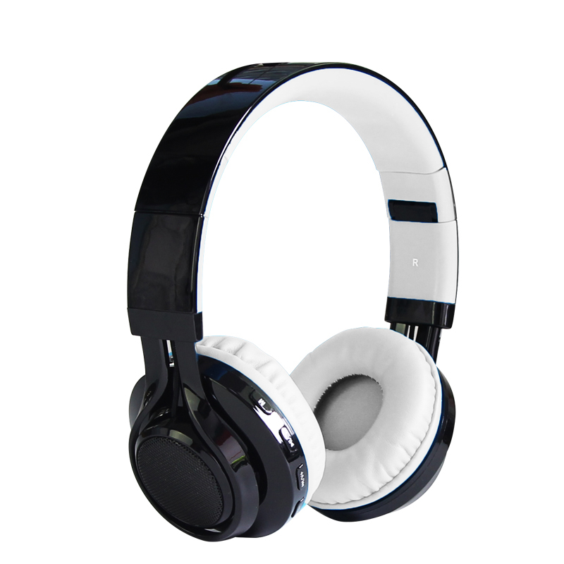 Original Foldable Cardable LED Light Bluetooth Headphones Music Stereo Support TF Card FM Headsets for Laptops Cell Phones ks 509 mp3 player stereo headset headphones w tf card slot fm black