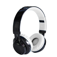 Original Foldable Cardable Bluetooth Headphones Music Stereo Support TF Card FM Headsets With LED Light For Laptops Cell Phones
