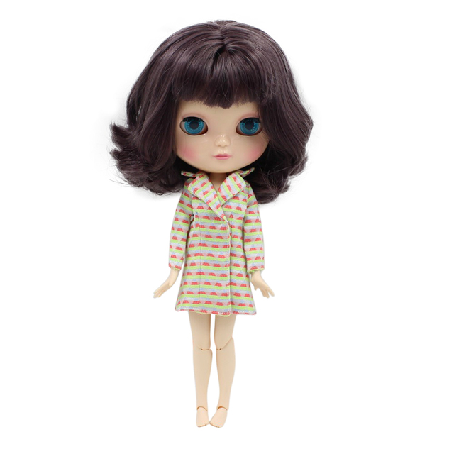 Fortune Days F&D New ICY DBS Doll Same As Factory Nude Doll Joint Body Deep Pueple Hair