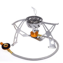 Windproof Outdoor Stove Portable Gas Stove Outdoor Picnic Stove for Camping Hiking Fishing Hiking Hunting Cycling BBQ