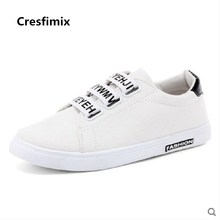 Cresfimix male casual street pu leather white hook look plus size shoes men cool black comfortable shoes man's shoes b2735