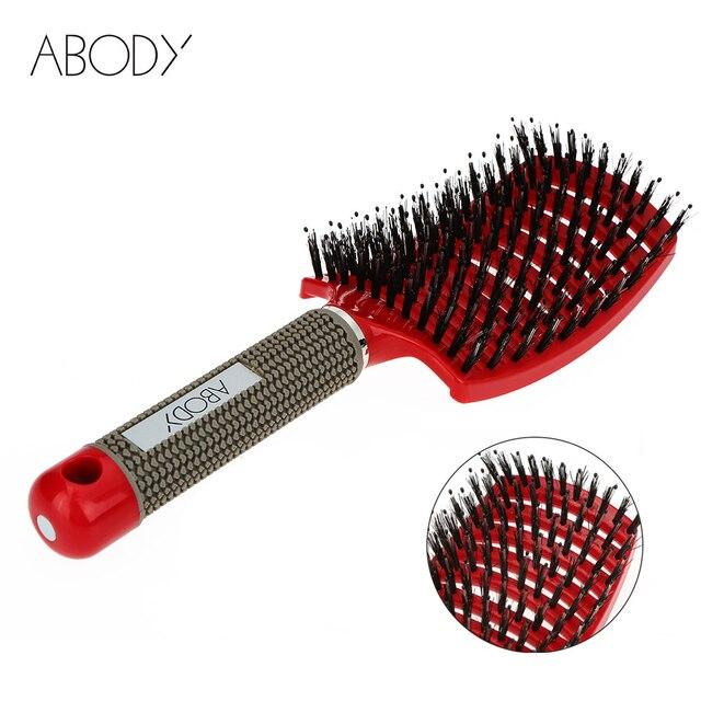 Oryginalny szczotka do włosów Abody magiczny grzebień do włosów rozczesywania szczotka do włosów Detangle wszy grzebień do masażu Women plątanina Salon fryzjerski 2019