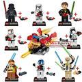 8 Unids de STAR WARS Darth Vader Obiwan General Grievous bloques de construcción ladrillos niños bebé clásicos juguetes de los niños