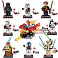 8Pcs  STAR WARS Darth Vader Obiwan General Grievous   building blocks bricks kids baby classic children toys