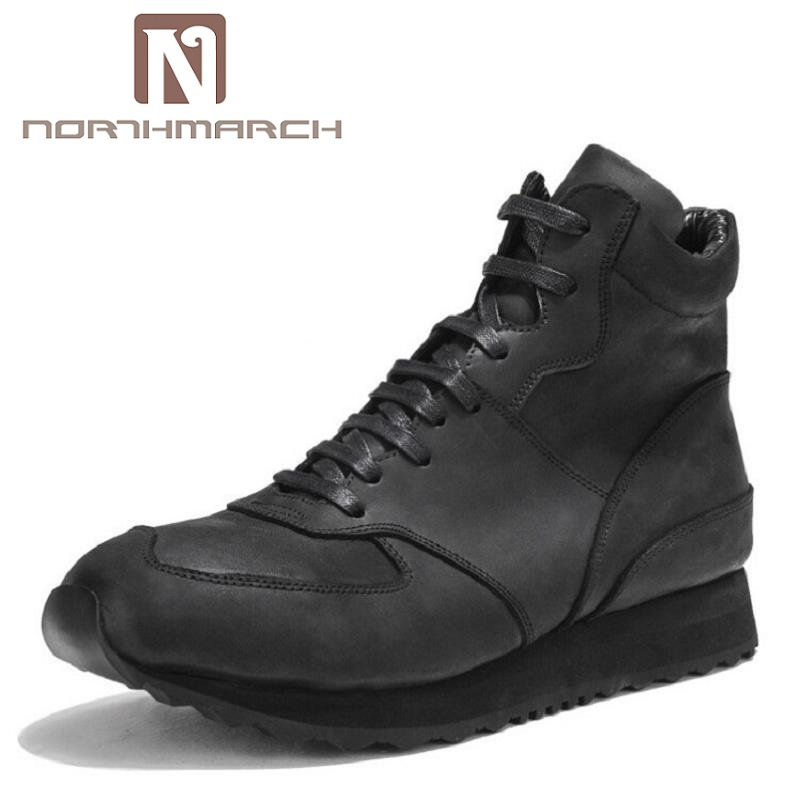 NORTHMARCH Quality High Top Men Casual Shoes Breathable Man Lace Up Brand Shoes Height Increasing Thick Bottom Footwear gram epos men casual shoes top quality men high top shoes fashion breathable hip hop shoes men red black white chaussure hommre