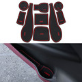 9 Pçs/set Car Styling Sulco Ranhura Pad Porta Interior Almofada De Látex Mat Anti-Slip Para Chevrolet Aveo 2011-2014 Carro Dedicado