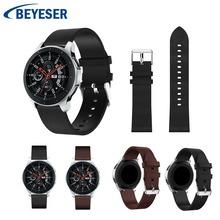 for Samsung Galaxy Watch 46mm pointed oil edge stitch leather strap 22m For Gear S3 Straps Replacement Watchband