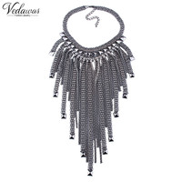Vedawas Newest Gorgeous Fashion Necklace Alloy Tassel Cross Jewelry Metal Statement Women Choker Necklaces Pendants 1455