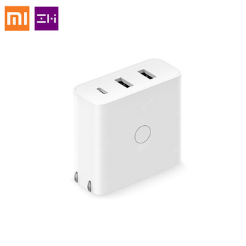 Original Xiaomi ZMI USB Charger 65W 3 Port For Android iOS Switch Smart Output Type-C 45W USB-A 20W fast Charge With USB Cable Battery Chargers