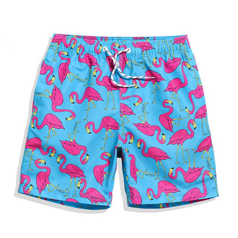 Mens Quick Dry Beach Shorts Fashion Lobster with Sunglasses Floral Boardshorts Swim Surf Trunks