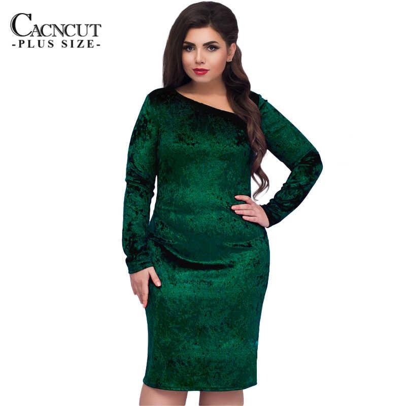 0a1c8524c49479 ... CACNCUT 5XL 6XL Plus Size Velvet Dress Women Evening Party Dresses 2019 Big  Size Vintage Blue ...