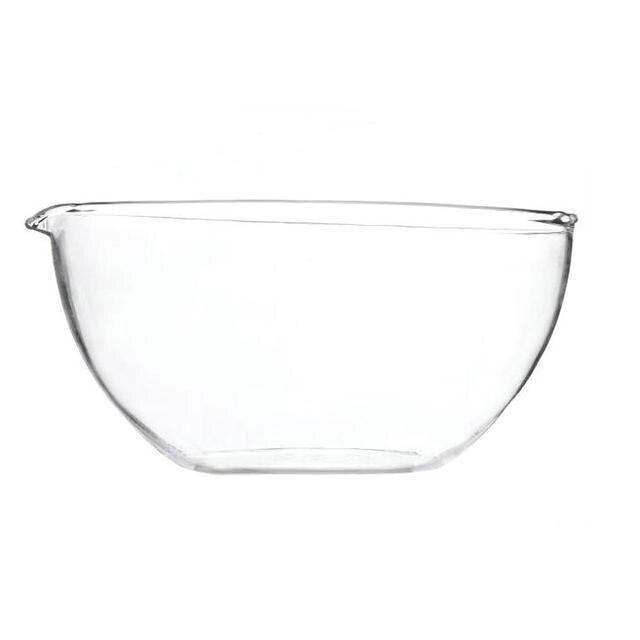 Laboratory glass flat bottom evaporating dish evaporation pan OD 60