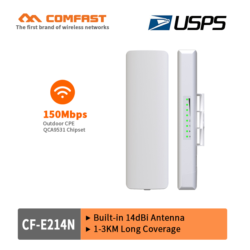 2017!150Mbps Outdoor CPE 2.4G wi-fi Ethernet Access Point Wifi Bridge Wireless Range Extender CPE Router With POE wifi USPS free
