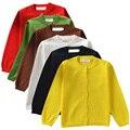 QUIKGROW Colores Del Caramelo de Manga Larga chaqueta de Punto Niña de Cuello Redondo Suéter de Otoño Primavera Outwear Caliente Bebé de Punto Tops NY11MY