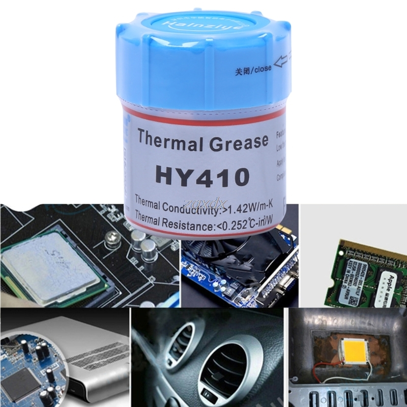 10g HY410-CN10 Thermal Grease CPU Chipset Cooling Compound Silicone Paste 1.42W Drop ship