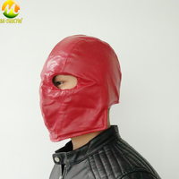 Moive Batman Red Hood Mask Superhero Jason Todd Red Leather Mask Halloween Cosplay Props Adult Men Helmet