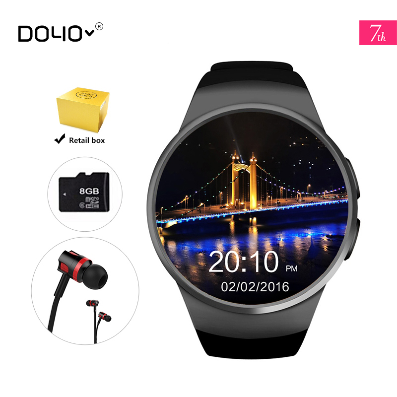 ФОТО 2017 New KW18 Smart Watch Android/IOS Digital-watch Bluetooth Inteligente SIM Round Heart Rate Monitor Watch Clock