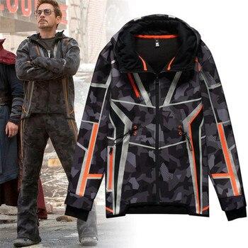Фильм Мстители 3 Железный человек зимняя куртка Тони же стиль костюмы для косплея камуфляж Звезда Любовь Топ пальто брюки девоч