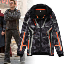 Movie The Avengers 3 Iron Man Winter Jacket Tony Same Style Cosplay Costumes Camouflage Star Love Top Coat Pants Fancy