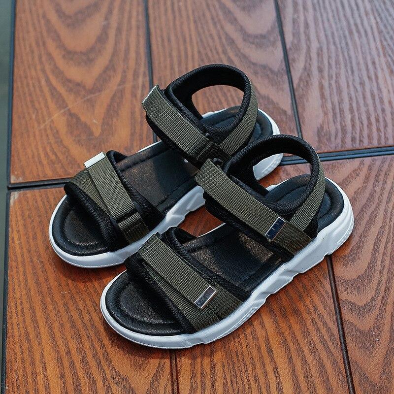 Sandalias cómodas para niños 2019 verano Zapatos infantiles para niños niñas sandalias casuales de playa zapatos planos suaves de moda UE 26-36