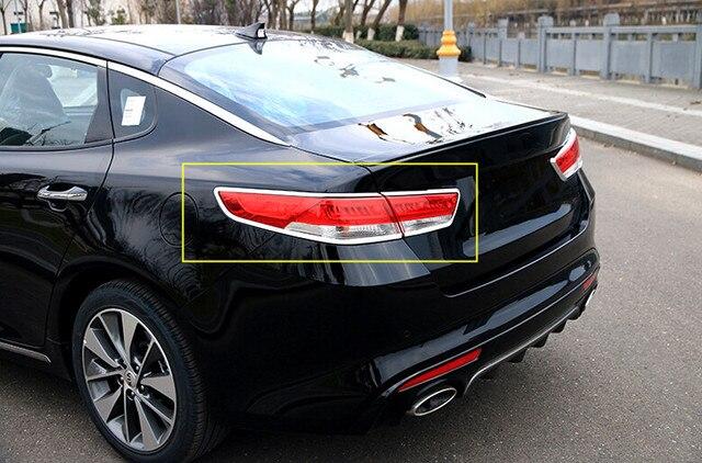 4pcs Glossy Chrome Rear Light Taillamps Frame Cover Trim For Kia Optima K5 2016 2017