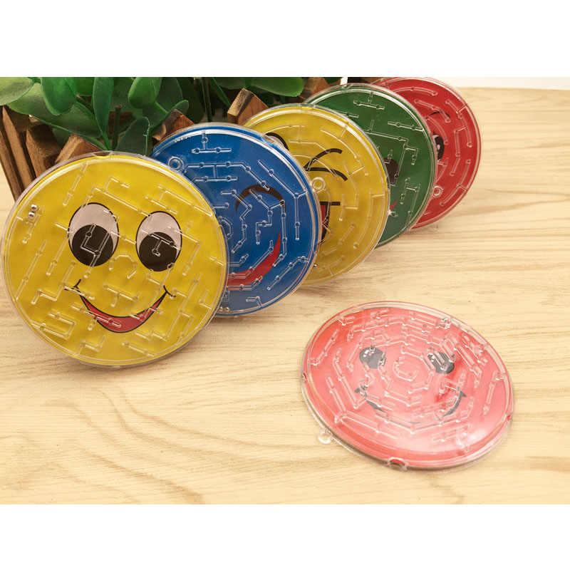 3 יח'\חבילה 7cm פלדה כדור מסלול מבוך צעצועי ילדי חידוש מוקדם חינוכיים מוח טיזר רוחני 3D פאזל פאזל לוח צעצוע