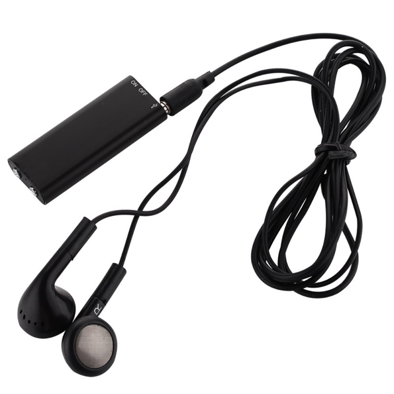 4GB/8GB/16GB Multi-function U Disk MP3 player USB2.0 Recording Pen for Windows Smartphone MP3 with 3.5mm Cable / Black Earphone