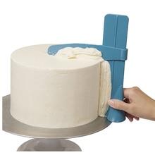 Стяжка для торта шпатель Гладкий край для торта домашние кухонные столовые приборы регулируемая высота два цвета дополнительно DIY инструмент для выпечки A10930