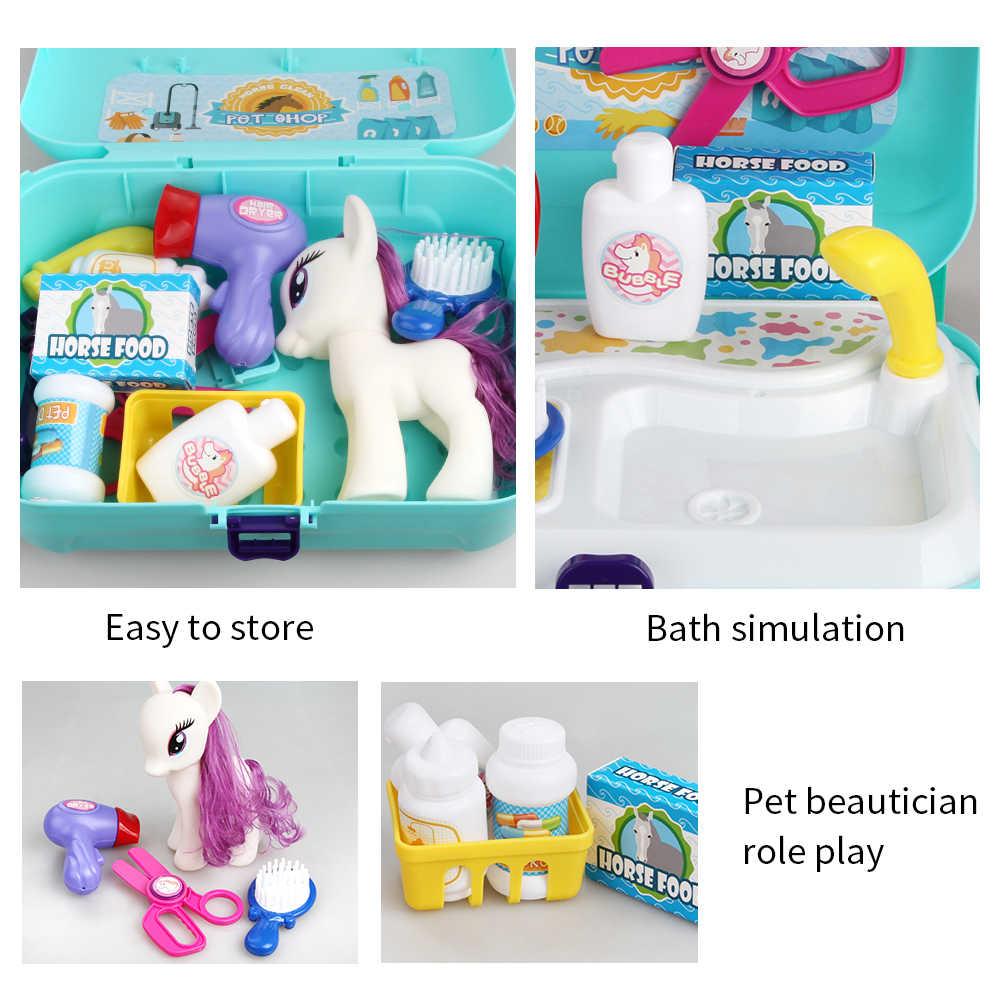 Bebé miniatura niños Pretender jugar juguetes para los niños de cuidado de mascotas juguetes juguete educativo para los niños, regalo de los niños juegos de chicas