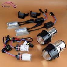 Nueva Actualización De Metal AC Universal HID Xenon faros de niebla Lente Del Proyector Lámparas de Conducción Parachoques Frontal de La Lámpara de Iluminación Kit de Accesorios Completo