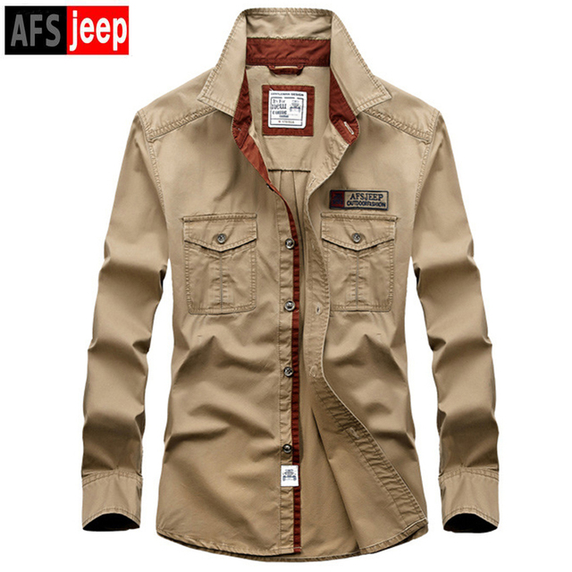 Brands Autumn Men S Full Sleeve Cotton Shirt Good Quality Pure