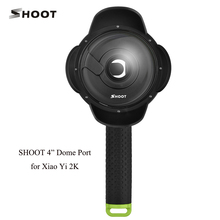 SHOOT Portable 4″Diving Waterproof Dome Port for Xiaomi Yi 2K Action Camera With Gray Floaty Grip