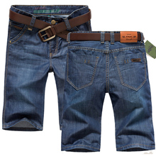 Summer men jeans male adolescents 5 minutes of pants straight cultivate one's morality leisure loose 5 denim shorts