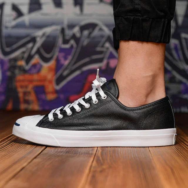 7c81a0b95c738 placeholder 2017 nouveau Original Converse JACK PURCELL sneakers chaussures  homme et femmes unisexe PU cuir couleur noire