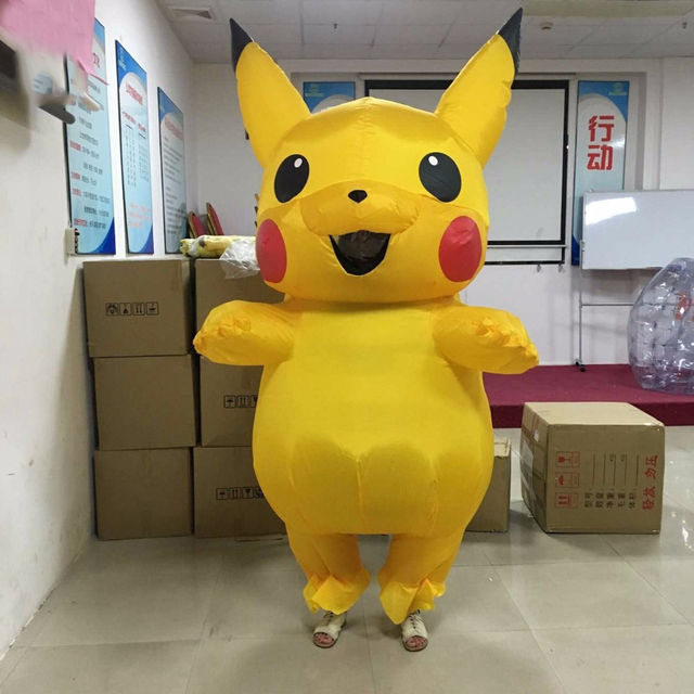 2017 new arrival pikachu inflatable costume halloween costume for adult women men cosplay outfits popular cosplay - Pikachu Halloween Costume Women