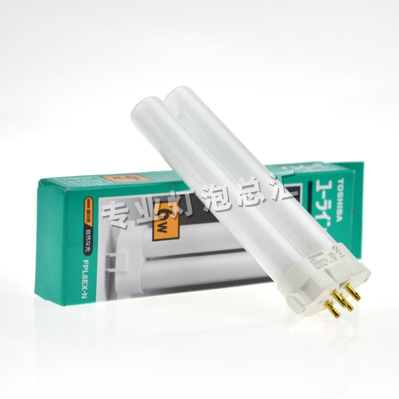 ФОТО TOSHIBA FPL6EX-N 6W CFL compact fluorescent bulb, 4 pins lamp tube  FPL6EXN